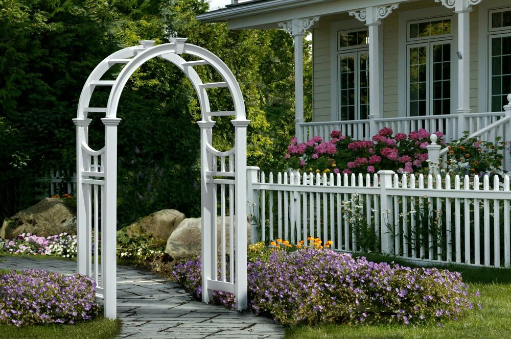 New england arbors decorative vinyl vienna garden patio for Outdoor lattice