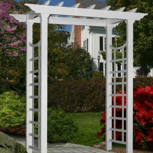 New England Arbors Decorative Vinyl Westhaven Garden Patio