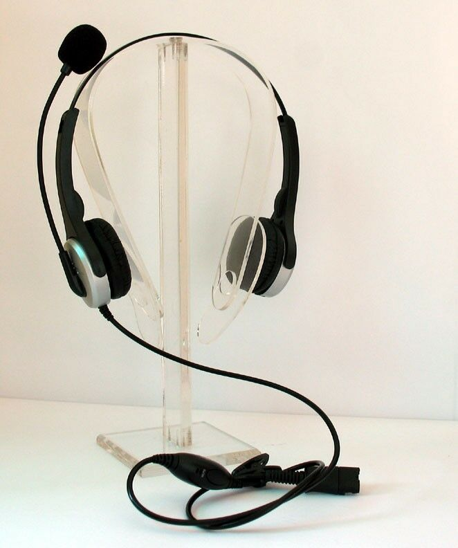 Office telephone headset with rj9 rj11 modular connections for avaya plt ge nec ebay - Phone headsets for office ...