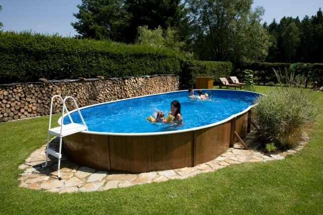 Above ground swimming pool kit 24x12ft oval ebay for Above ground swimming pools uk