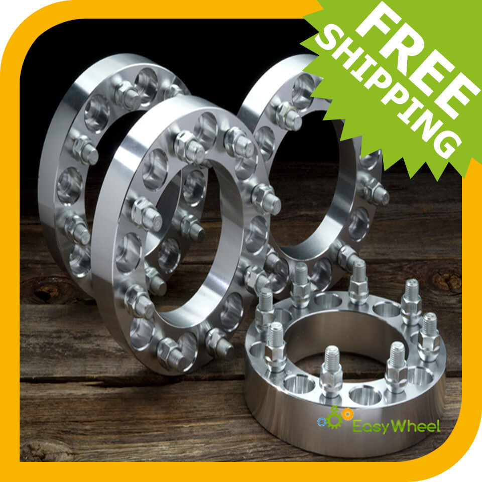 Dually Wheel Spacers >> 4 Ford 8x170 Wheel Spacers Adapters 2 inch fits: F250, F350, Excursion, Dually | eBay