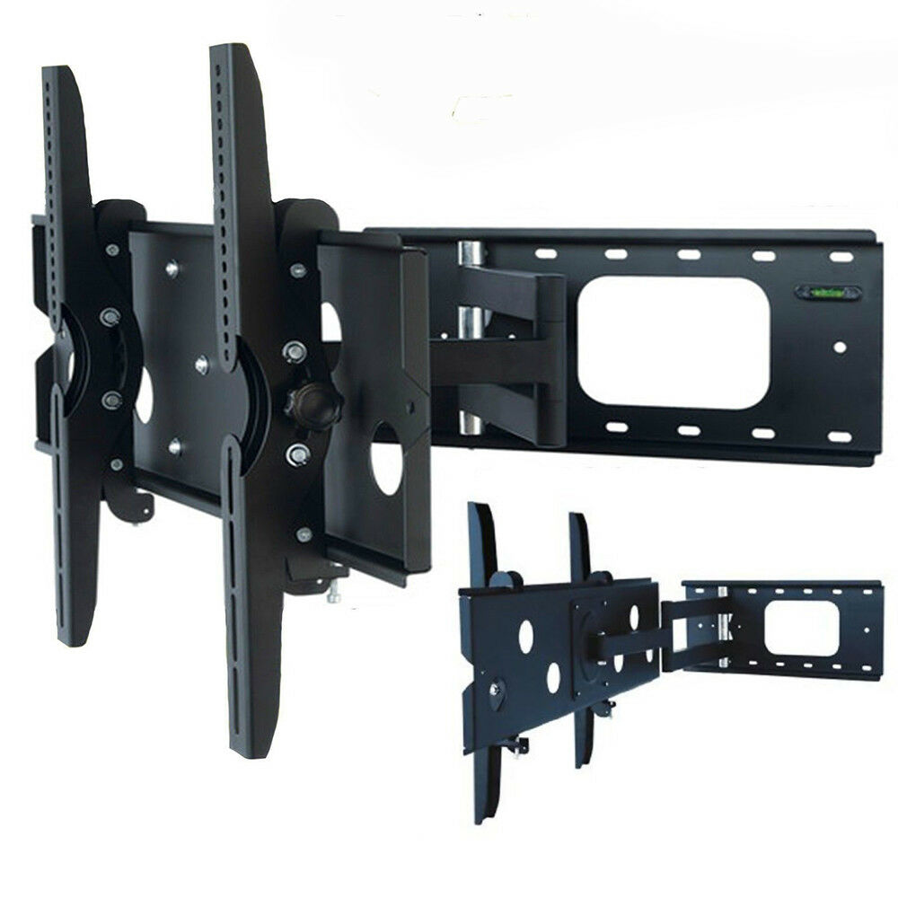 new universal articulating swivel arm tilt lcd led flat tv wall mount bracket ebay. Black Bedroom Furniture Sets. Home Design Ideas