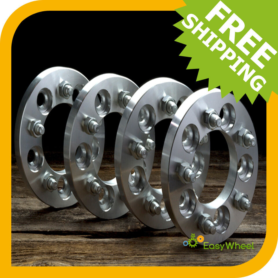 4 Dodge Wheel Spacers Adapters 5x5.5 bolt pattern 1 inch ...