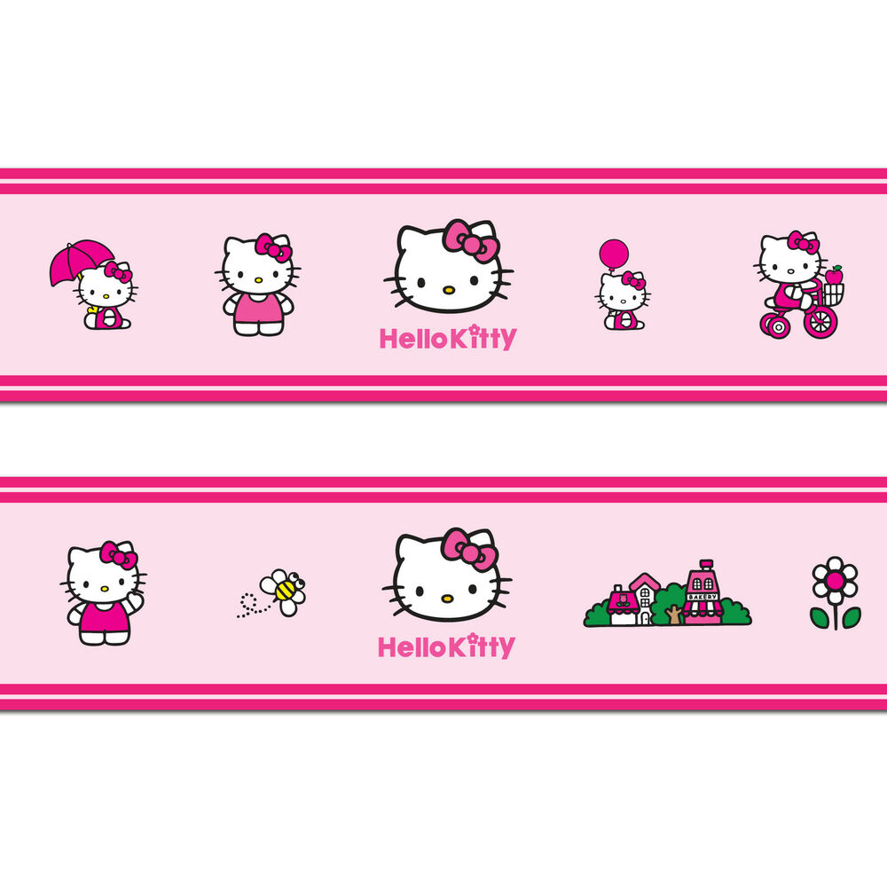 Hello kitty self adhesive decorative wall border 5 metres in total