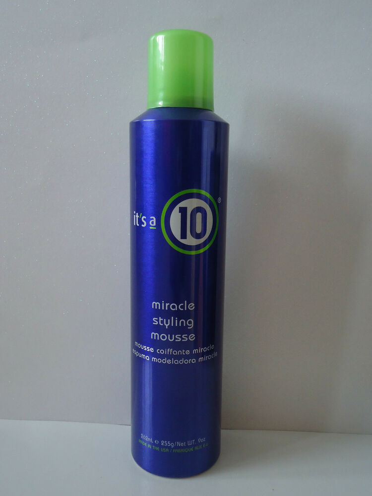 hair mousse styles it s its a 10 miracle styling mousse 9oz ebay 5110