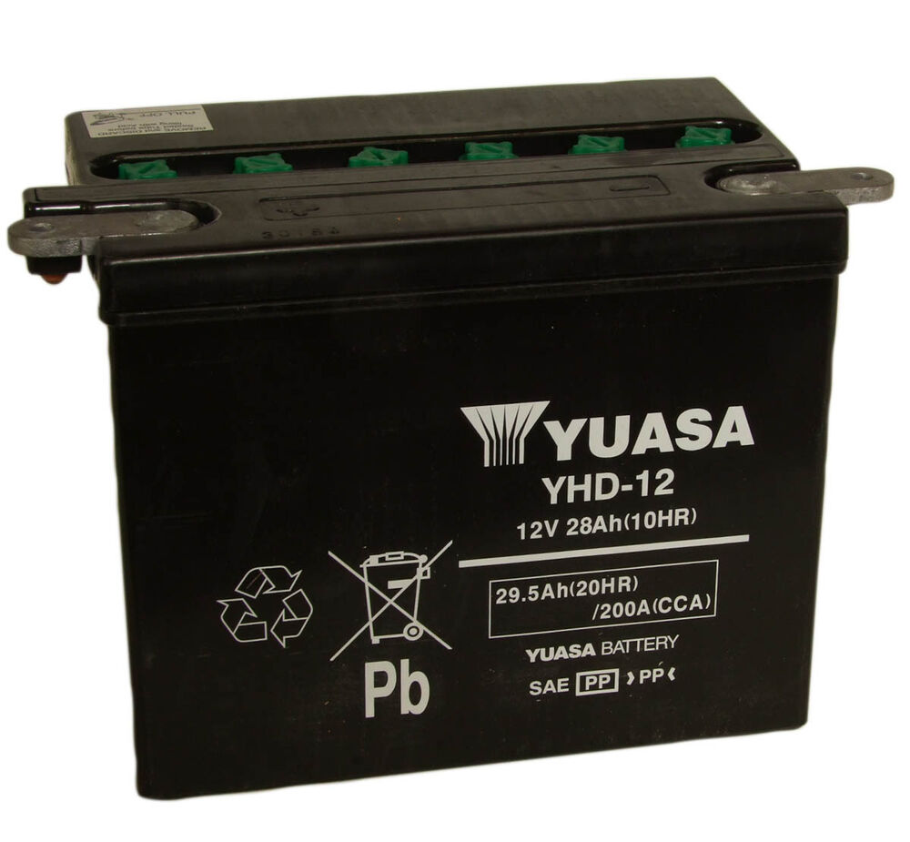 genuine yuasa yhd 12 motorbike motorcycle 12v battery harley davidson ebay. Black Bedroom Furniture Sets. Home Design Ideas