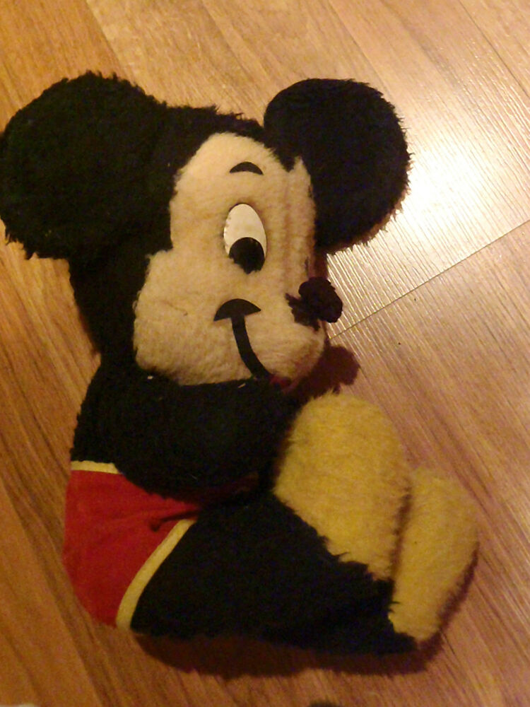 Mickey Mouse Toys : Vintage stuffed mickey mouse toy walt disney characters