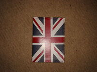 LEATHER JUBILEE PASSPORT COVER UNION JACK HOLDER