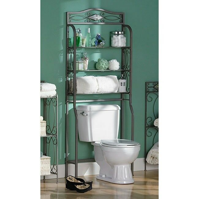 Space Saver Bathroom Shelves Over Toilet Shelf Stand New Ebay