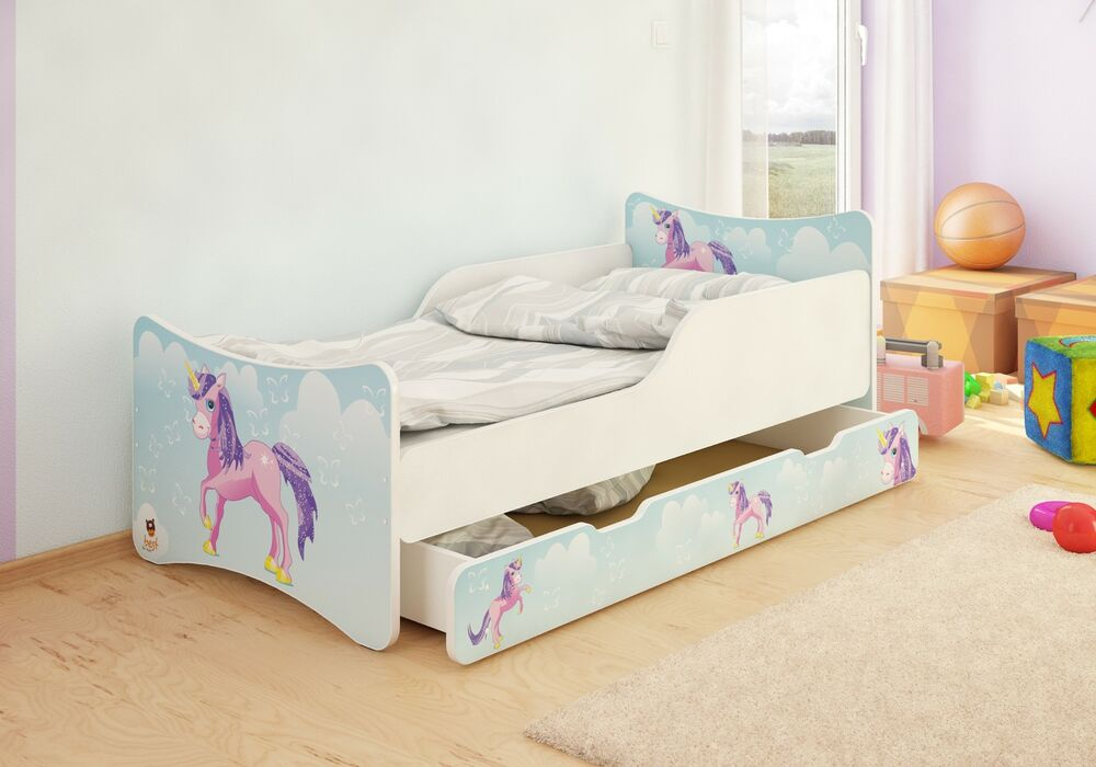 best for kids kinderbett bett 4 gr en mit schublade cars. Black Bedroom Furniture Sets. Home Design Ideas
