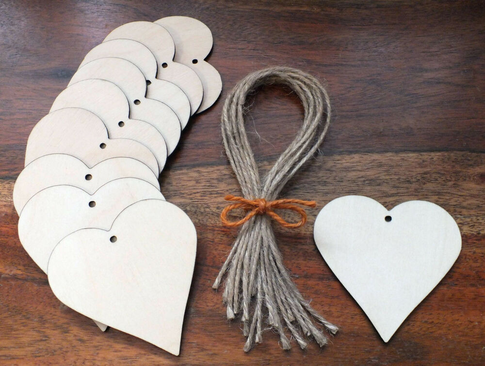 Wooden love hearts wedding place names embellishments for Wooden hearts for crafts