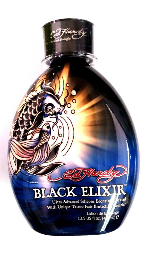 Ed hardy black elixir indoor tanning bed lotion bronzer w for Best lotion for a tattoo