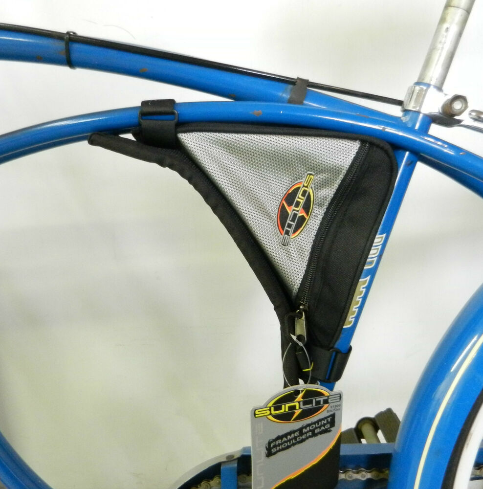 Frame mounted light weight zippered bicycle bag and ...