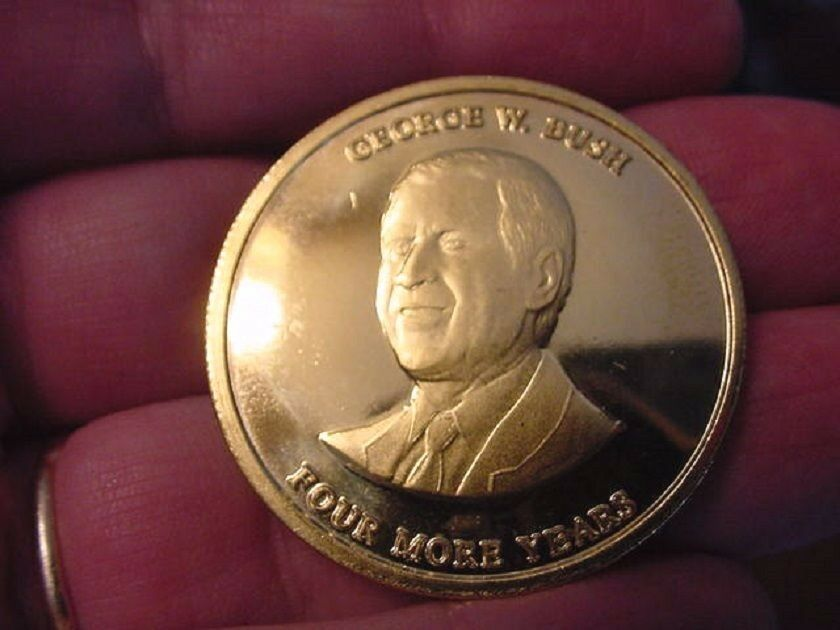 Md 64 66 Two Coins Eagle Vote George W Bush Minted