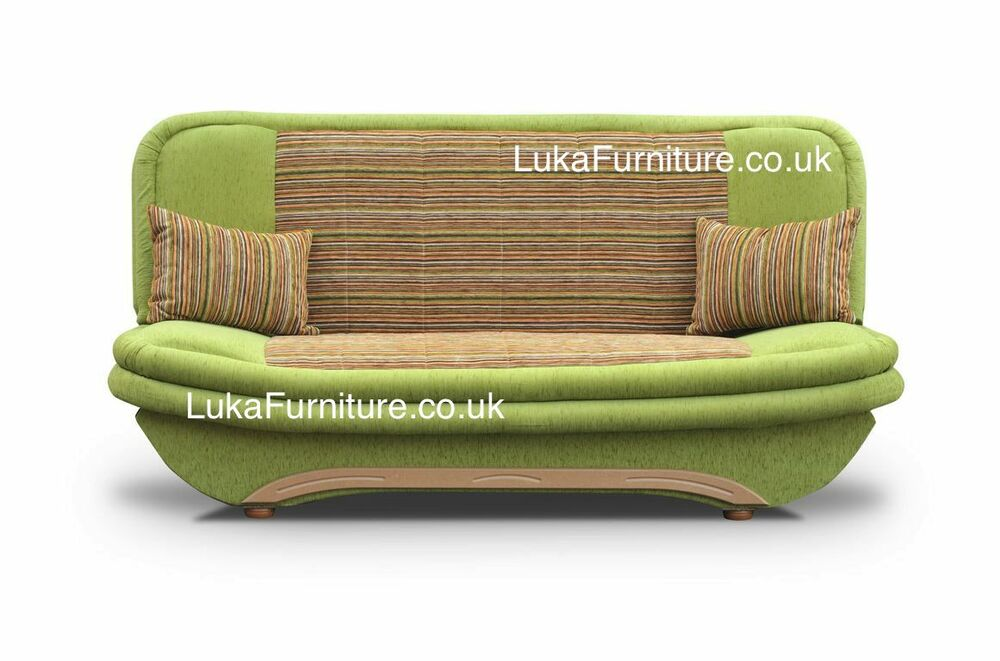 Click clack sofa bed denis with storage many colors for Click back sofa bed