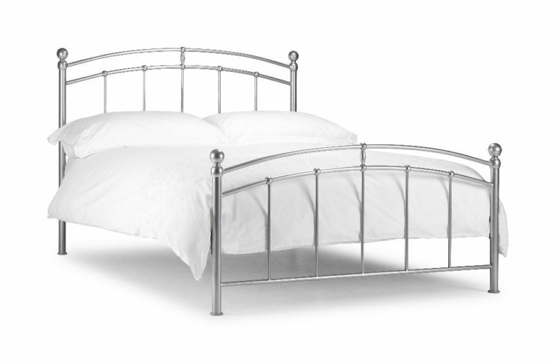 Chatsworth Metal Bed Frame Silver Single Double King Ebay