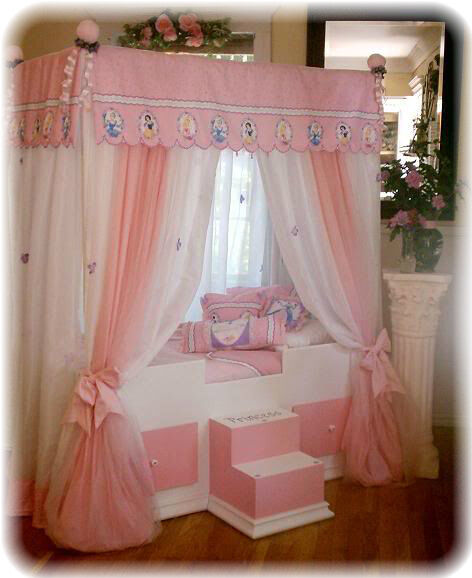 toddler disney princess canopy bedding girls bed canopy bed girls furniture ebay. Black Bedroom Furniture Sets. Home Design Ideas
