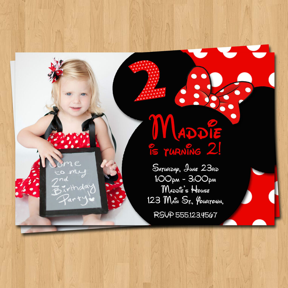 Minnie Mouse Invitations * 20 Birthday Party Invites