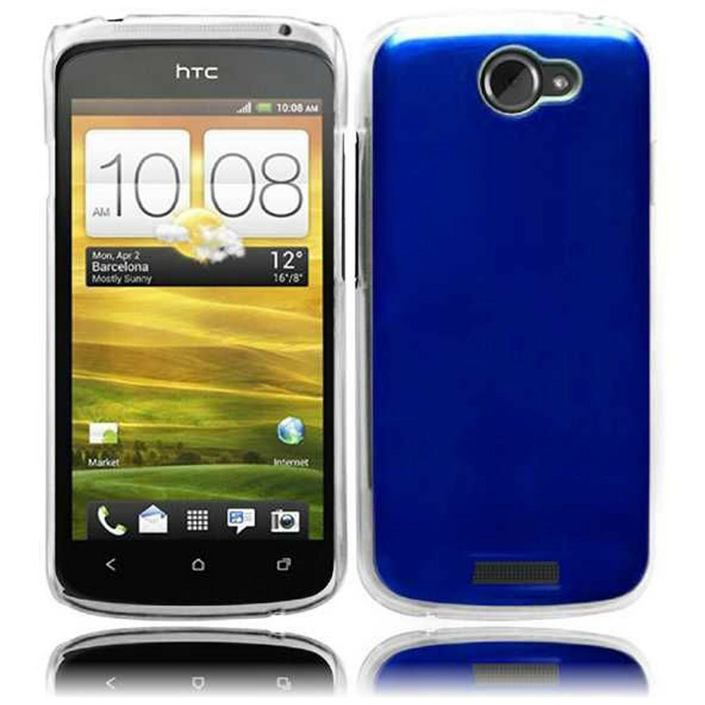 For AT&T HTC One X METAL Cosmo HARD Protector Case Snap On Phone Cover Blue | eBay