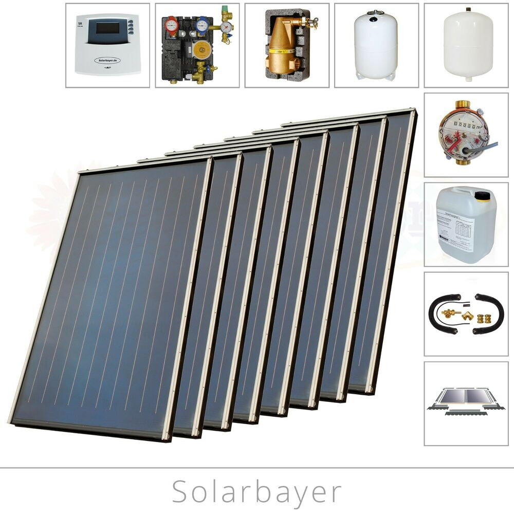 solarbayer indachkollektor solaranlage solarpaket solarsystem indach solar ebay. Black Bedroom Furniture Sets. Home Design Ideas