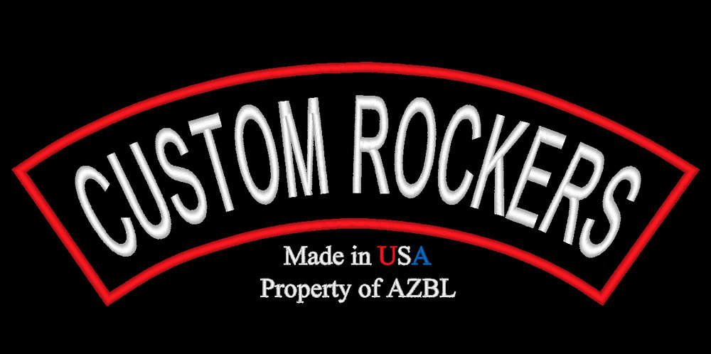 Custom Embroidered Patch Top Or Bottom Rocker 13 X 3 Made In Usa