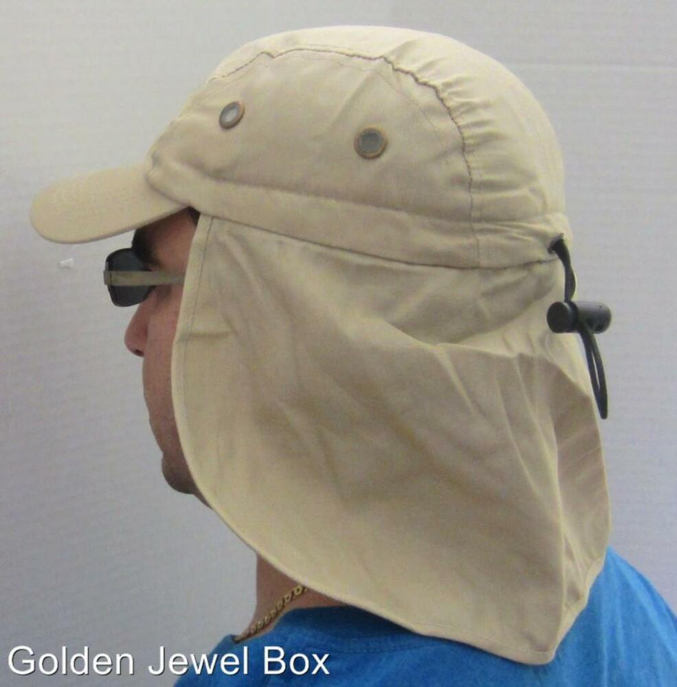 New golf fishing hiking baseball cap w neck flap cover for Fishing neck cover