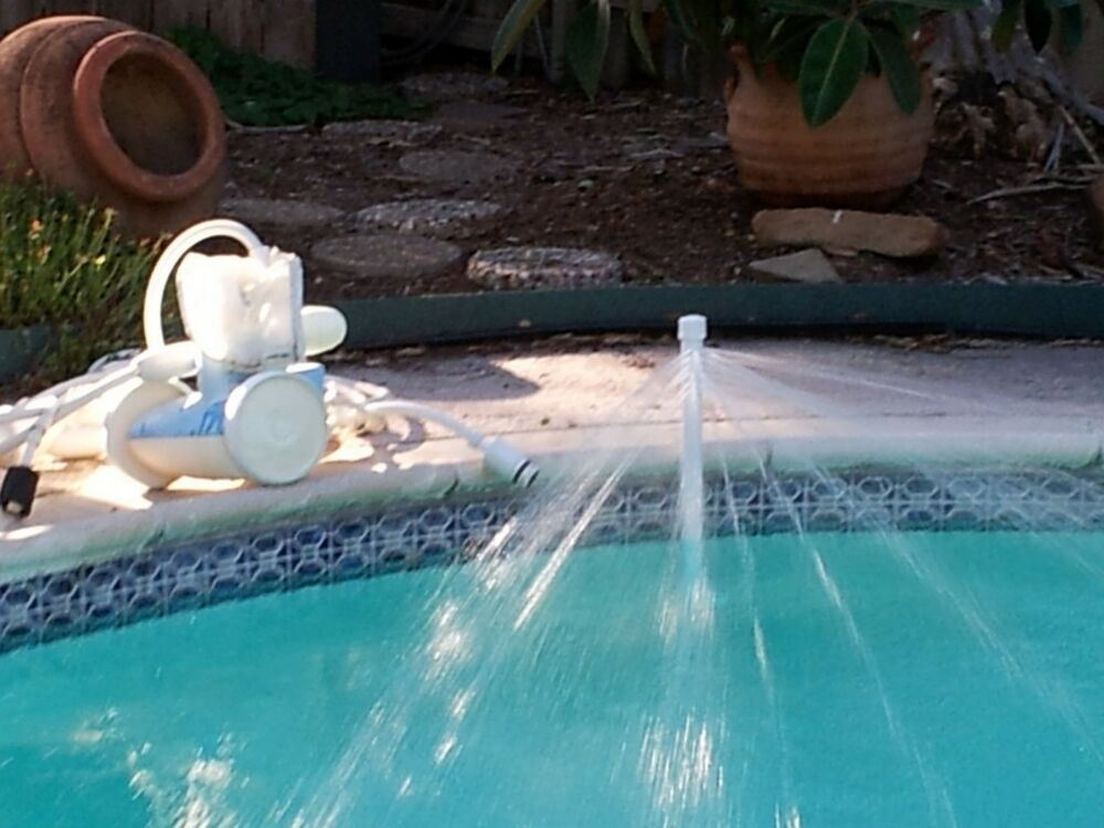 Swimming pool fountain water chiller cools pool water temp - Swimming pool water fountain kits ...