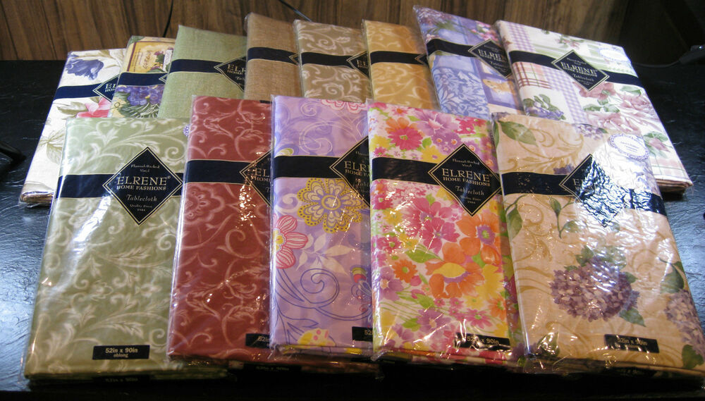 Flannel Backed Vinyl Tablecloths By Elrene Home Fashions