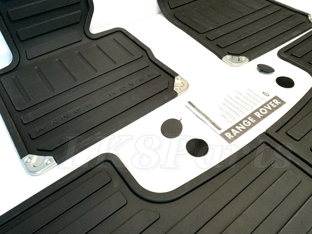 Land Rover Range Rover 07 10 Genuine Rubber Floor Mat Set