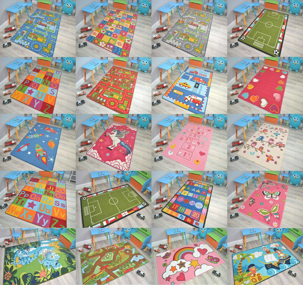 Childrens large girls boys bedroom playroom floor mat carpets kids play fun rugs ebay - Amazing style rugs for kids rooms ...