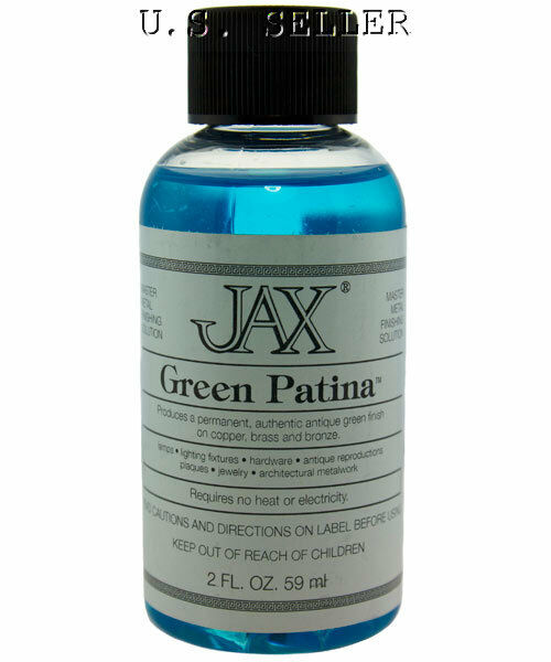 green patina for copper brass and bronze 2 oz bottle by jax ebay. Black Bedroom Furniture Sets. Home Design Ideas