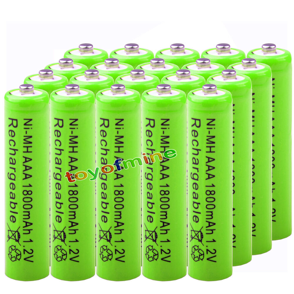 20x aaa 1800mah pile 1 2v ni mh rechargeable 3a batterie verte pour mp3 jouet rc ebay. Black Bedroom Furniture Sets. Home Design Ideas