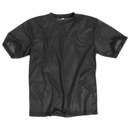 img-TACTICAL COMBAT MENS MESH T-SHIRT BREATHABLE MILITARY AIRSOFT SECURITY BLACK