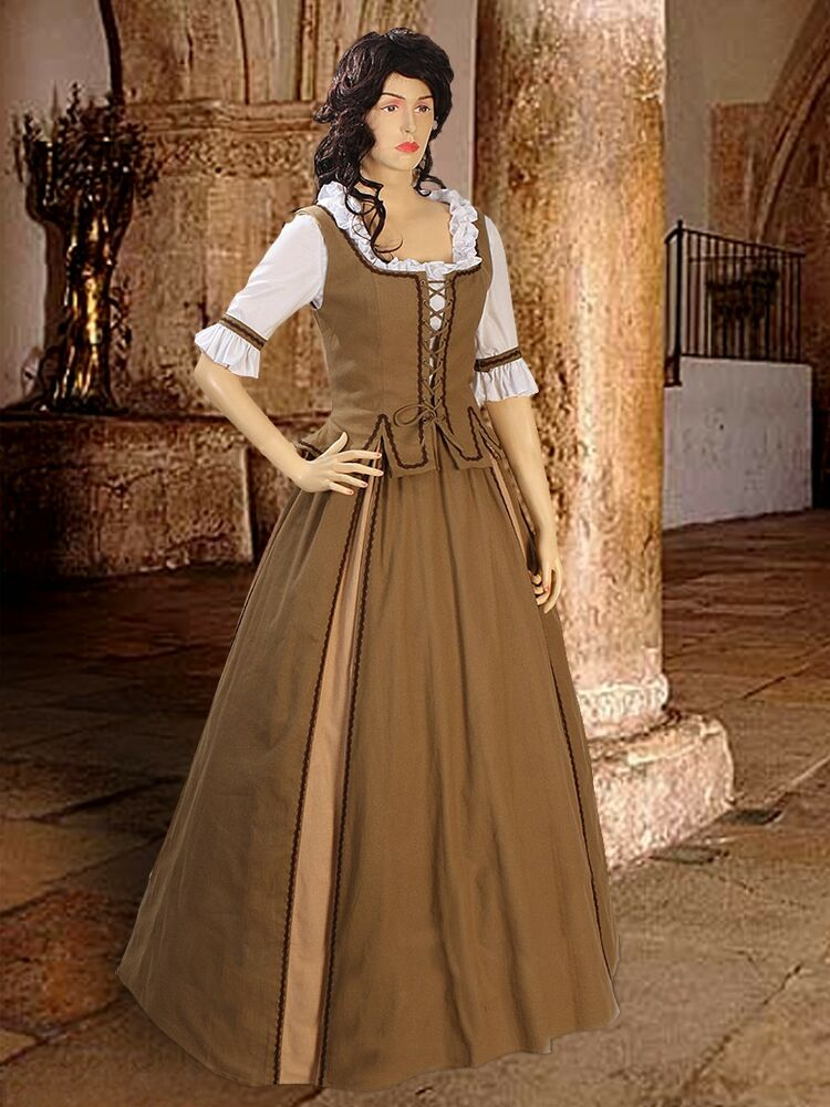 Medieval Costume Renaissance Peasant Gown Maiden Country