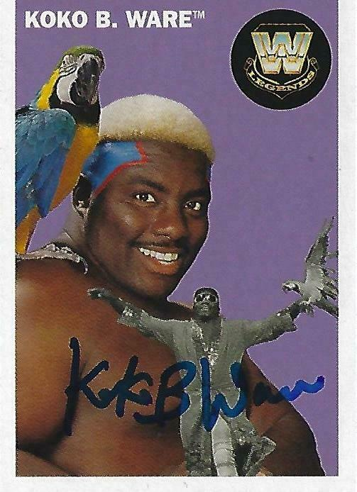 koko b ware signed 2006 topps heritage card 82 autograph auto 39 d wwe legends wwf ebay. Black Bedroom Furniture Sets. Home Design Ideas