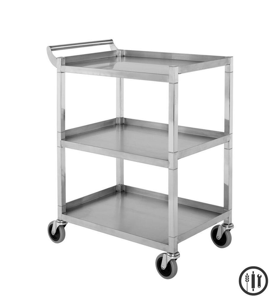 Stainless Steel Bus/Utility Cart 350 Lb Capacity