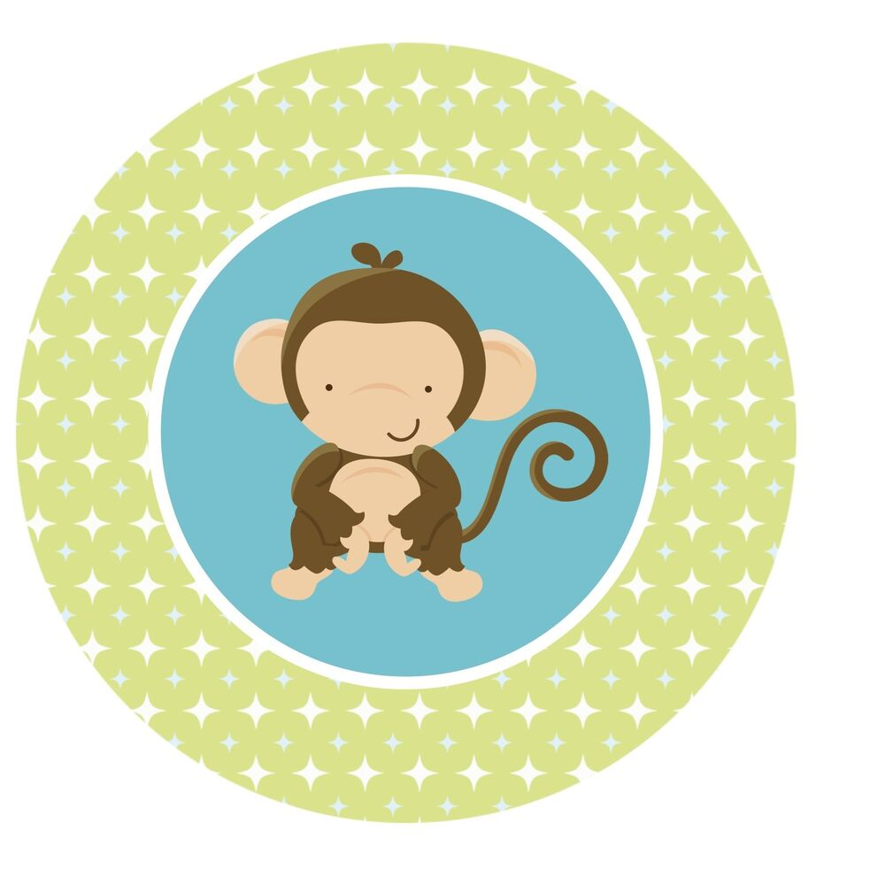Monkey Jungle Safari Edible Cupcake Toppers Decoration | eBay