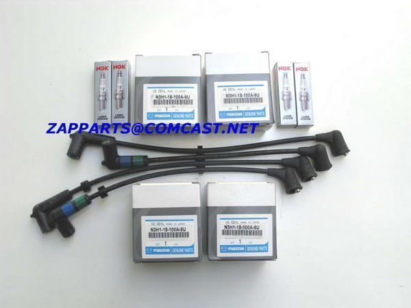 ignition coil spark wire set mazda rx 8 oem ebay