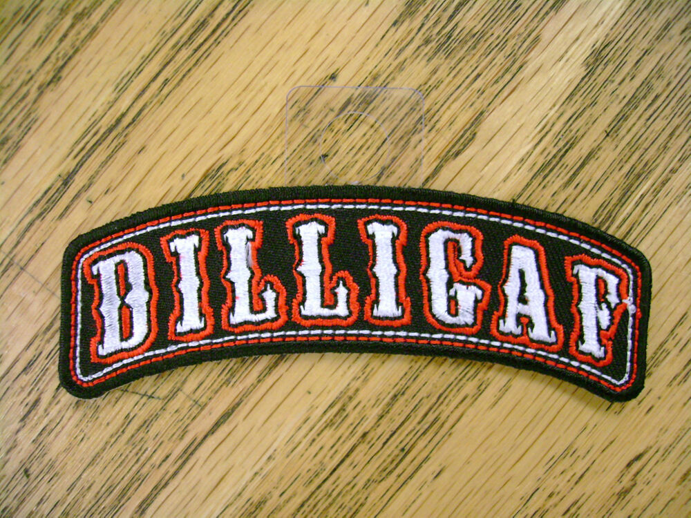Ebay Motors Motorcycles >> DILLIGAF 4 INCH TOP ROCKER EMBROIDERED PATCH | eBay