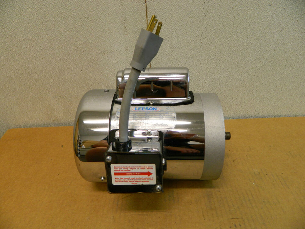 Leeson m6c17fg156a stainless s s food grade electric motor for Dc motor 1 3 hp