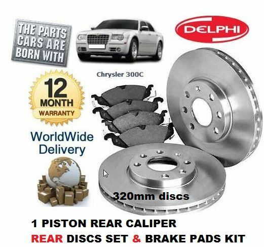 for chrysler 300c 3 0dt crd 3 5 5 7 2005 rear brake discs set disc pads kit ebay. Black Bedroom Furniture Sets. Home Design Ideas
