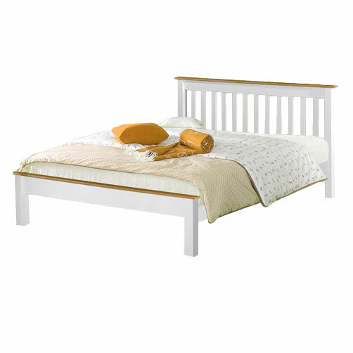 NEW 3ft Single Solid Pine Derby Bed White Mattress
