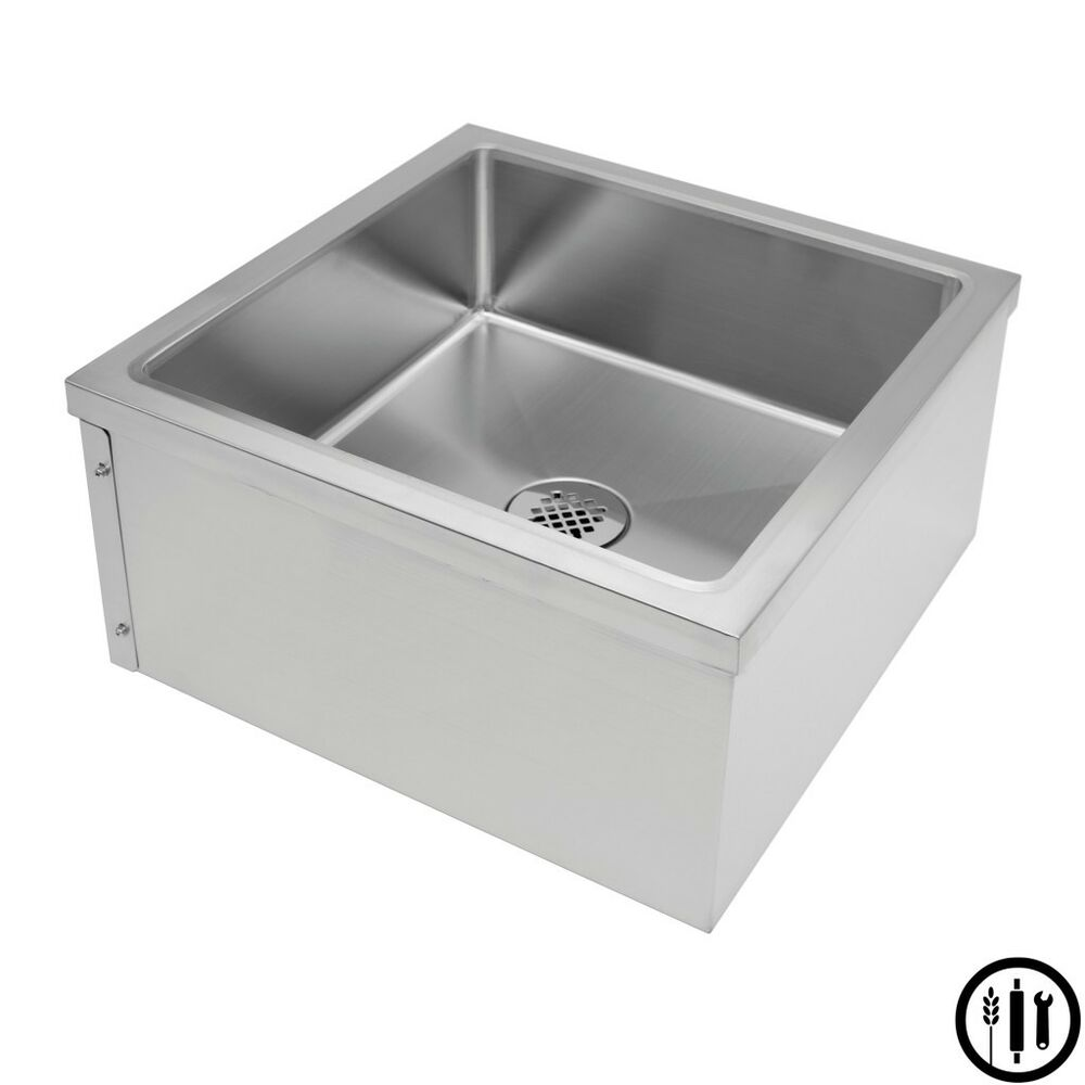 Stainless Steel Floor Mount Mop Sink- 24