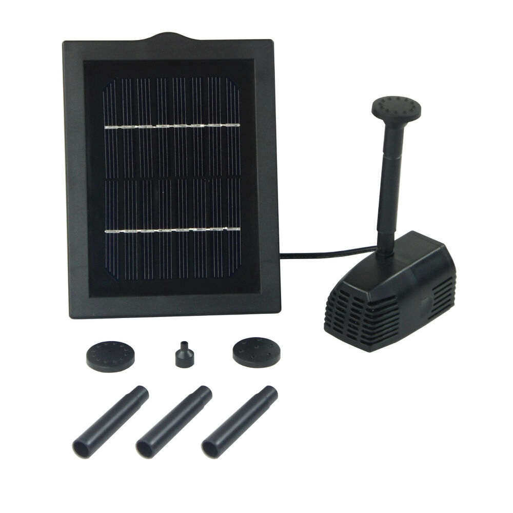 New 2w outdoor garden solar powered submersible water pump for Solar water pump pond