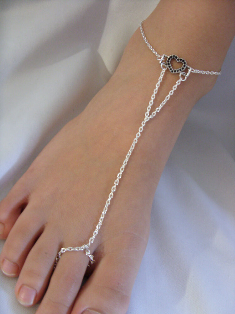 a charm silver tone chain anklet ankle