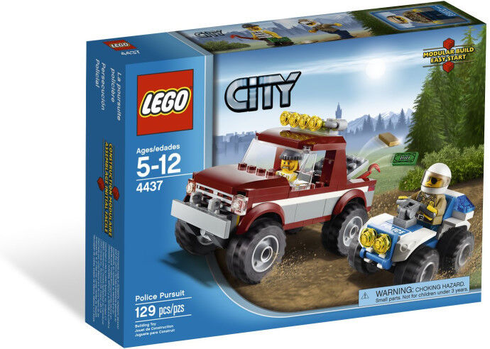New 2012 Lego City Forest Police Pursuit 4437 Nib On Hand Great