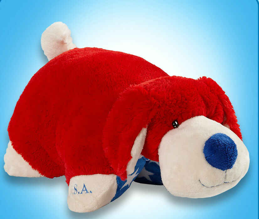Large Patriot Dog Stuffed Animal Authentic Kids Bed Pillow Pet 18