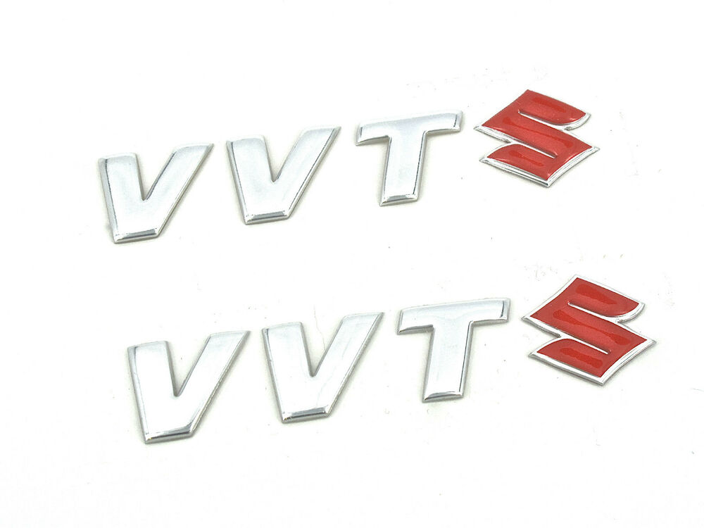2 x genuine new suzuki vvt badge emblems alto jimny swift