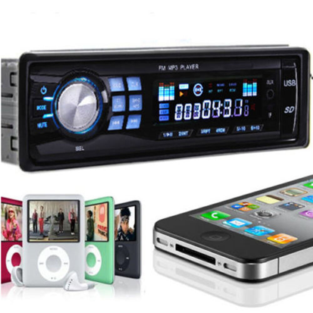 car stereo audio in dash fm aux input receiver with tf usb mp3 wma radio player ebay. Black Bedroom Furniture Sets. Home Design Ideas