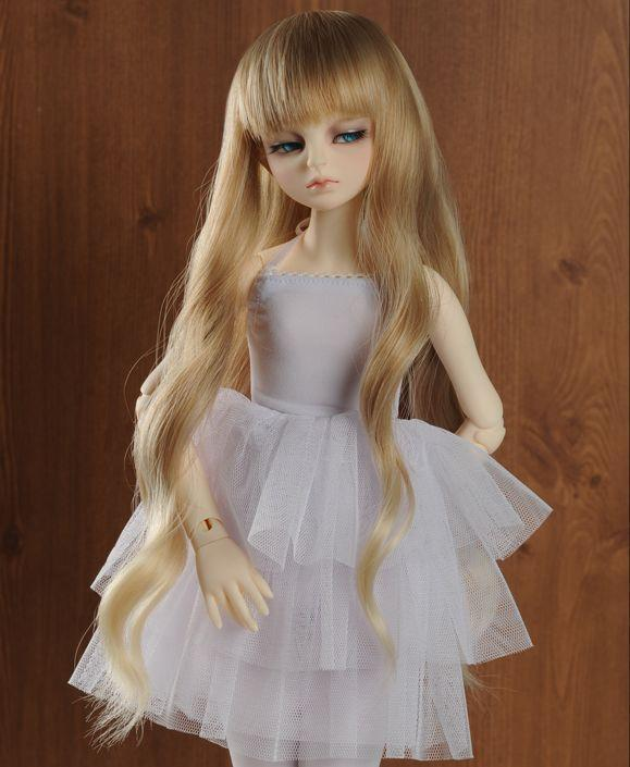 9 10 Quot 1 3 Bjd Hair Sd Doll Wig Super Dollfie Long Curly